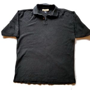 Tommy Bahama Black Polo Silk/Cotton Men's Size M